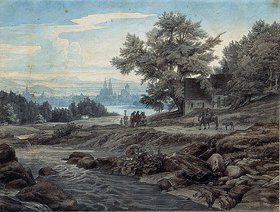 Johann Wilhelm Schirmer: Flucht nach Ägypten
