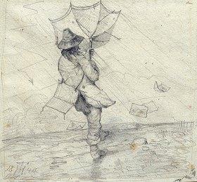 Theodor Hosemann: Maler im Gewittersturm