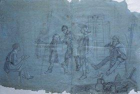 Johann Peter Hasenclever: Atelierszene