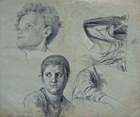 Friedrich Geselschap: Kopf-, Gewand- und Armstudien