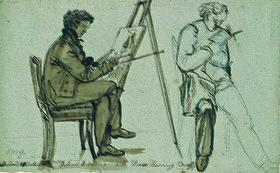Johan Christian Clausen Dahl: Bildnisse von Ernst Oehme und Harro Harring