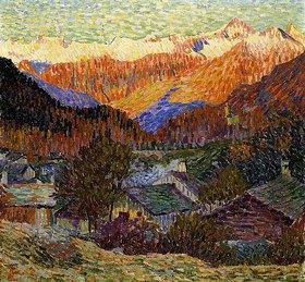 Giovanni Giacometti: Herbstmorgen (Stampa)