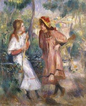 Auguste Renoir: Zwei Mädchen in einem Garten auf dem Montmartre