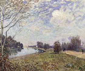 Alfred Sisley: Die Themse bei Hampton Court, East Molesey