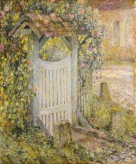 Henri Le Sidaner: Das Gartentor (Le Pothuis, Gerberoy)