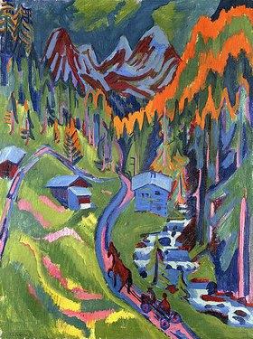 Ernst Ludwig Kirchner: Sertigweg im Sommer
