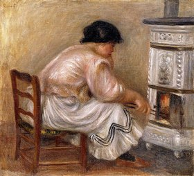 Auguste Renoir: Frau an einem Kamin