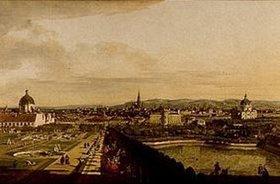 Bernardo (Canaletto) Bellotto: Wien, vom Belvedere aus gesehen