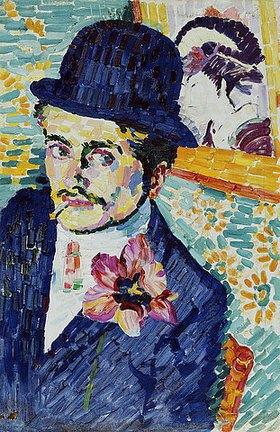 Robert Delaunay: Mann mit einer Tulpe am Revers (Portrait of Jean Metzinger)