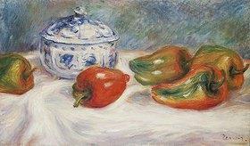Auguste Renoir: Stillleben mit Zuckerdose und Paprika