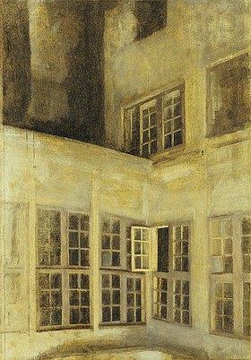 Vilhelm Hammershoi: Der Innenhof von Nr. 30 Strandgade