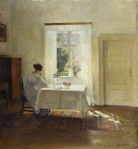 Carl Holsoe: Sitzende Frau an einem Fenster