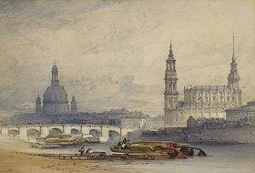 William Callow: Dresden von der Elbe aus gesehen