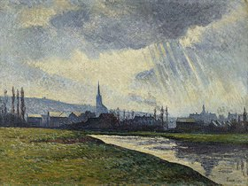 Maximilien Luce: Couillet, Charleroi, Flusslandschaft