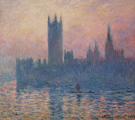 Claude Monet: Das Parlament in London bei Sonnenuntergang