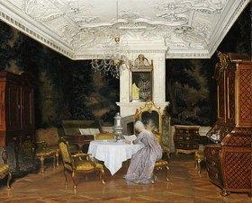 Adolf Heinrich Hansen: Dame in einem Interieur, Fredensborg