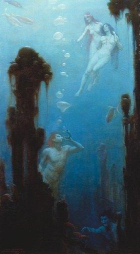 Charles Courtney Curran: Märchenhafte Unterwasserwelt