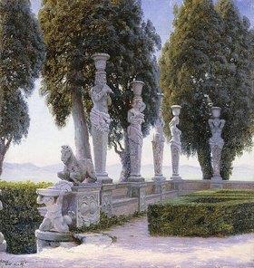 Adolf Heinrich Hansen: Karyatiden im Garten der Villa Farnese, Caprarola