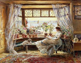 Charles James Lewis: Lesende am Fenster