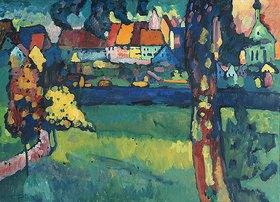 Wassily Kandinsky: Oberbayerische Kleinstadt (Murnau)
