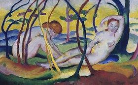 Franz Marc: Akte unter Bäumen