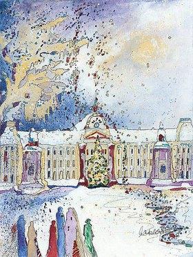 Annette Bartusch-Goger: Belgien, Brüssel: Königlicher Palast im Winter