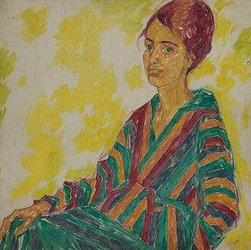 Walter Ophey: Portrait Frau Esser (Bildnis Frl. E / Elberfeld)