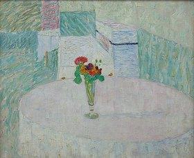 Walter Ophey: Schnapsglas mit bunten Blumen