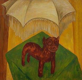 Walter Ophey: Hund mit Schirm