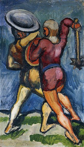 August Macke: Zwei Kämpfende
