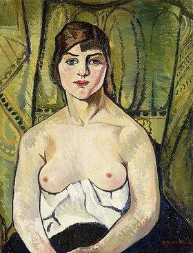 Suzanne Valadon: Frau mit nackten Brüsten (Selfbildnis)