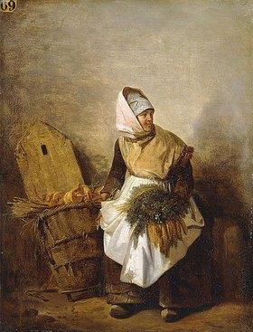 Auguste-Xavier Leprince: Eine Bäuerin mit Gemüse
