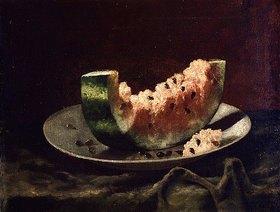 Carducius Plantagenet Ream: Stillleben mit Wassermelone