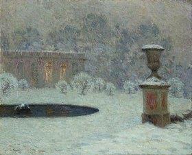 Henri Le Sidaner: Das Trianon im Park von Versailles bei Schnee