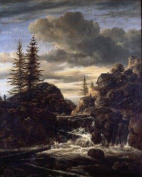 Jacob Isaacksz van Ruisdael: Norwegische Landschaft mit Wasserfall
