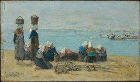 Eugène Boudin: Brest - Fischerinnen am Ufer (pecheuses sur le rivage)