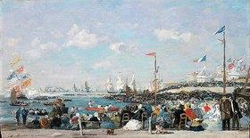Eugène Boudin: Le Havre, la fête des regates