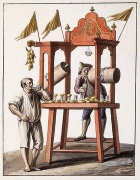 Saviero Xavier della Gatta: Verkaufsstand für eisgekühltes Wasser (Venditore d'acqua Gelata)