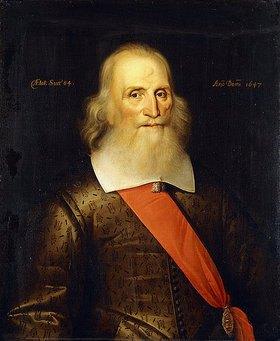 Englisch: Porträt von Sir Oliver Cromwell im Alter von 84 Jahren