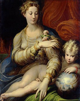 Parmigianino (Francesco Mazzola): Die Madonna mit der Rose