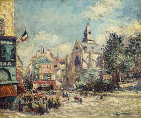 Gustave Loiseau: Saint-Médard in der Rue Mouffetard, Paris