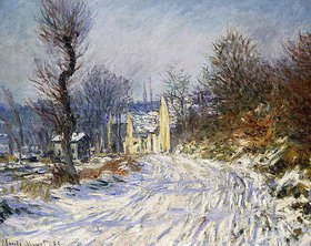 Claude Monet: Die Straße nach Giverny im Winter (Route de Giverny en Hiver)