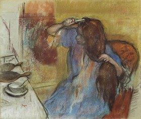 Edgar Degas: Sich kämmende Frau (Femme à sa Toilette)