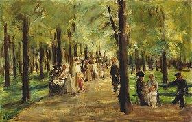 Max Liebermann: Spaziergänger im Tiergarten