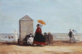 Eugène Boudin: Am Strand von Trouville (Sur la Plage de Trouville)