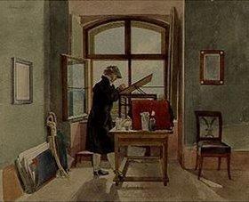 Johann Adam Klein: Der Maler Erhard im Atelier