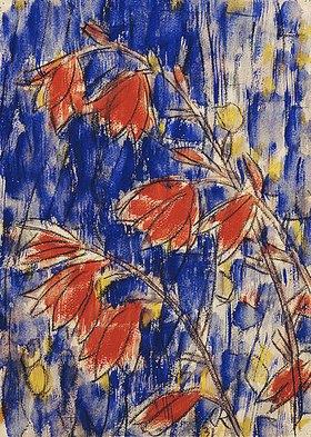 Christian Rohlfs: Rote Blumen