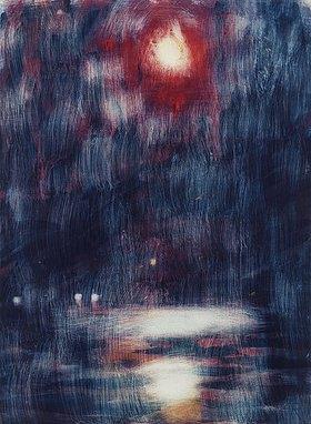 Christian Rohlfs: Mondschein am Lago Maggiore