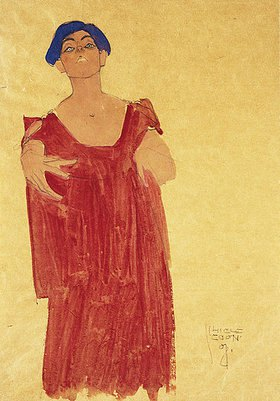 Egon Schiele: Frau mit blauem Haar