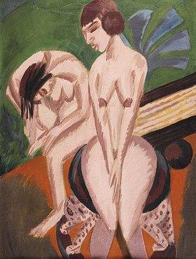 Ernst Ludwig Kirchner: Zwei Akte im Ra